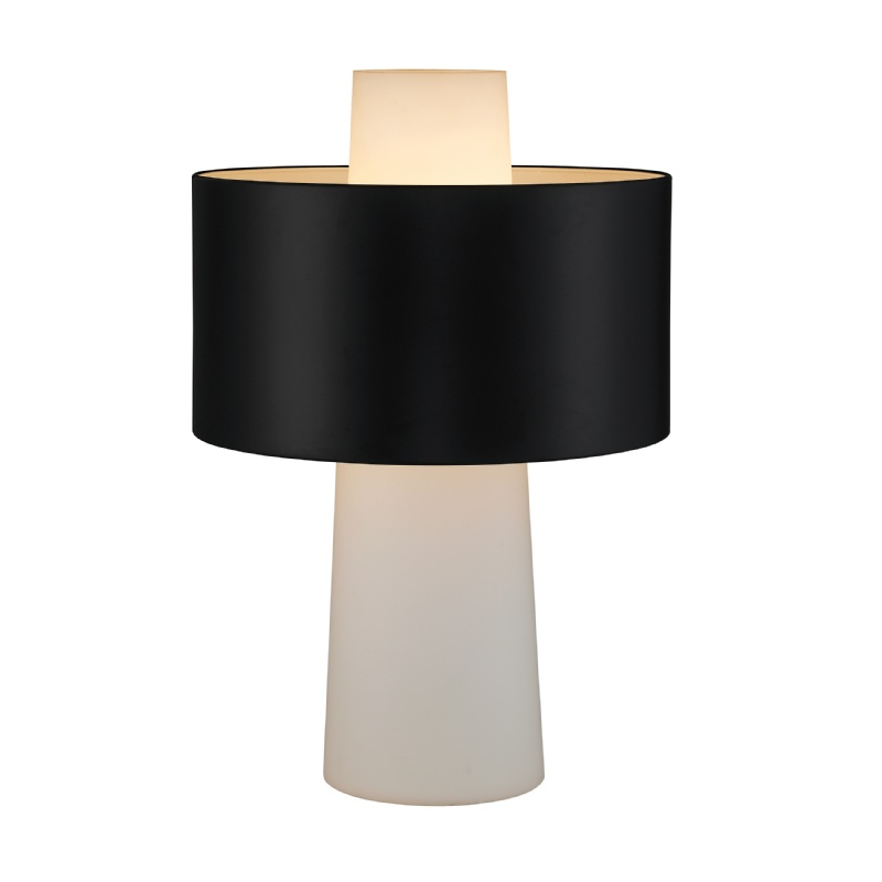 Lighting: Modern Table Lamps: Adesso Black Symmetry Table Lamp