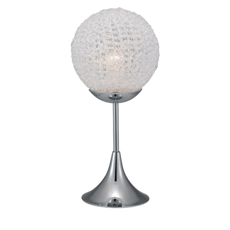 Lighting: Modern Table Lamps: Adesso Chrome Frost Table Lamp