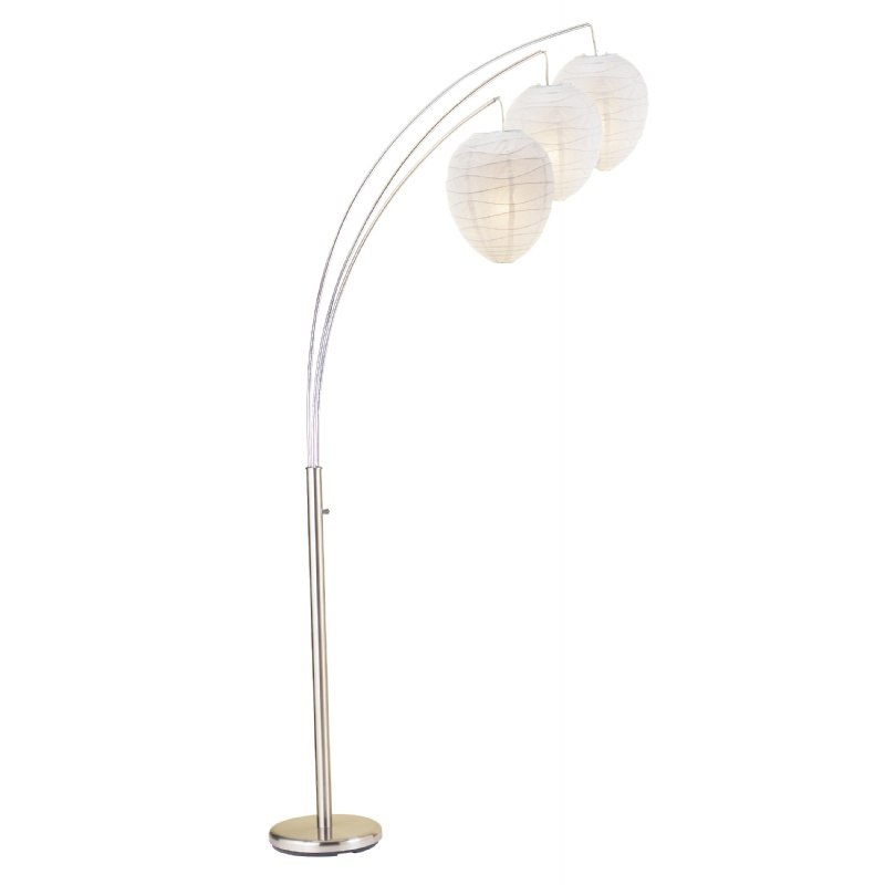 Adesso Satin Steel Belle Arc Lamp