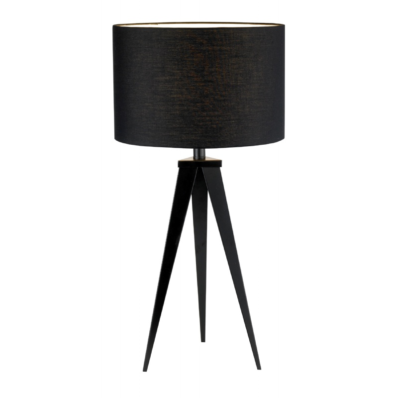 Lighting: Modern Table Lamps: Adesso Black Director Table Lamp