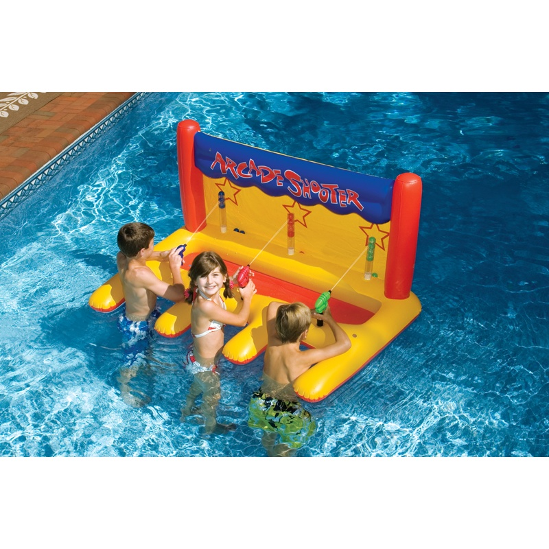 6 8 People Inflatable Floats: Inflatable Pool Arcade Shooter