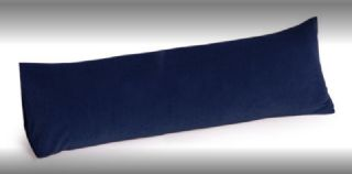 Memory Foam Body Pillow 30 inch Microsuede Navy Blue