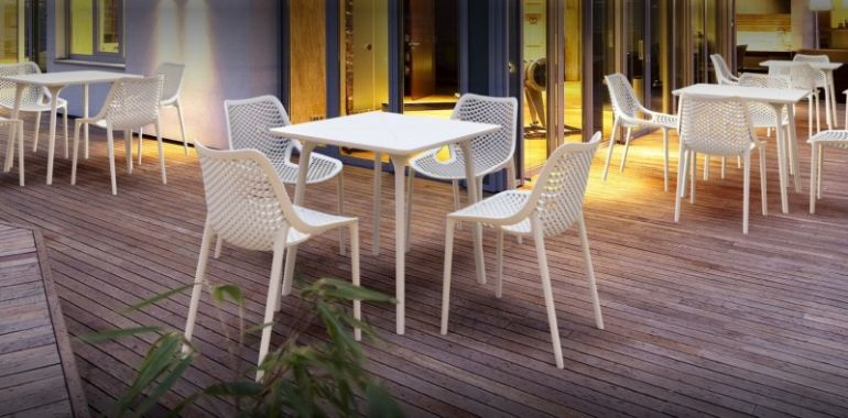 Air Outdoor Dining Chair White