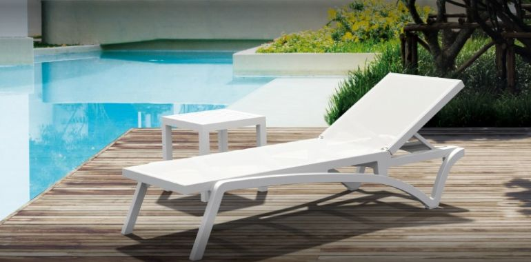 Pacific 3-pc Stacking Chaise Lounge Set White - White