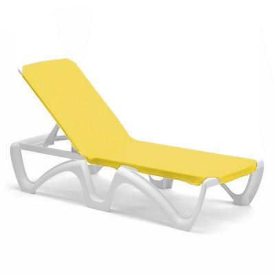 Adjustable sling chaise lounge yellow cozydays for Adams 5 position chaise lounge white
