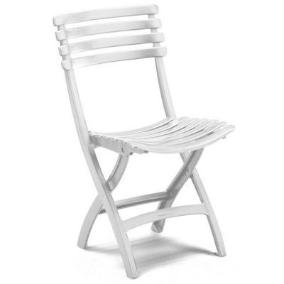 White Folding Outdoor Bistro Chair