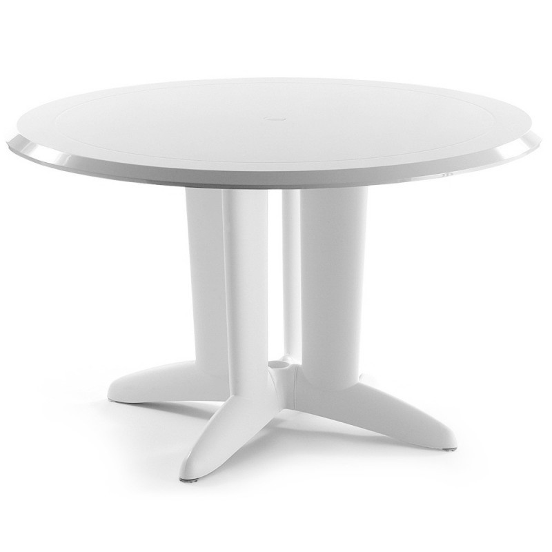 evolutif ascot lacquered plastic round dining table 48