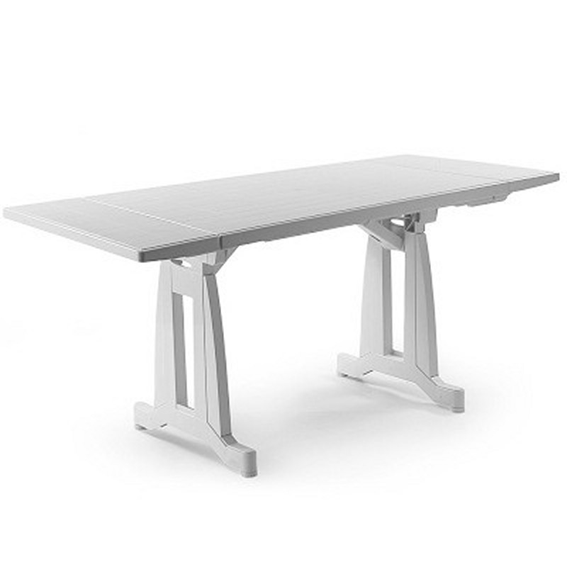 Dangari Lightweight Folding Table : White Patio Furniture