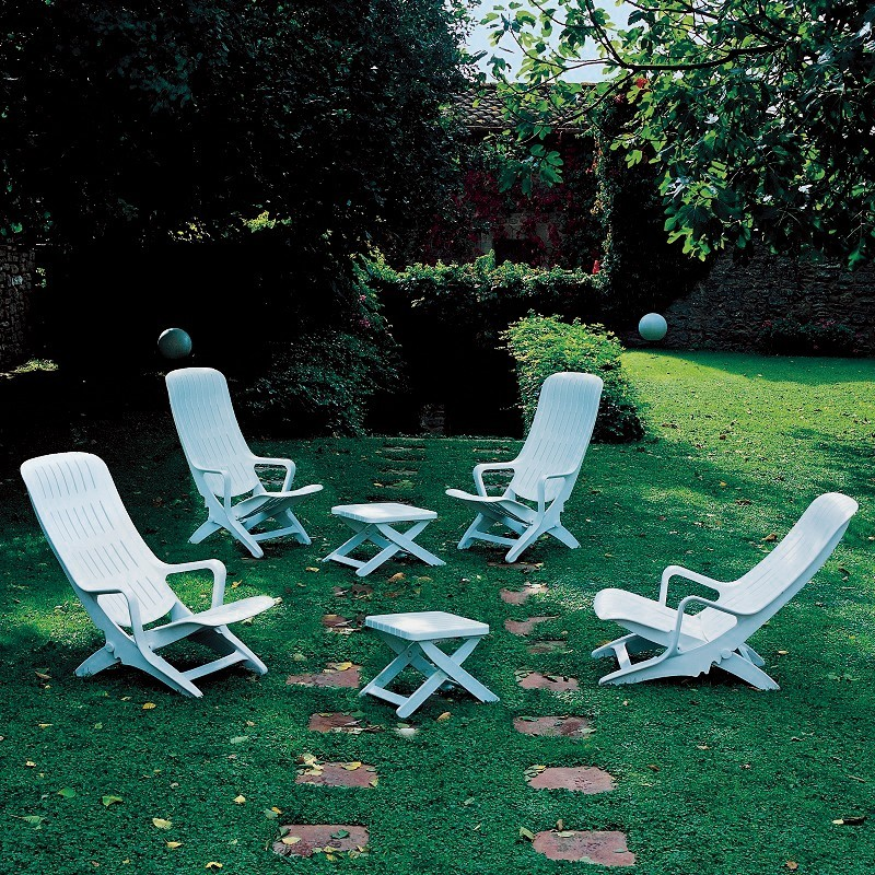 Outdoor Furniture Set - Estanza 6-Piece : White Patio Furniture