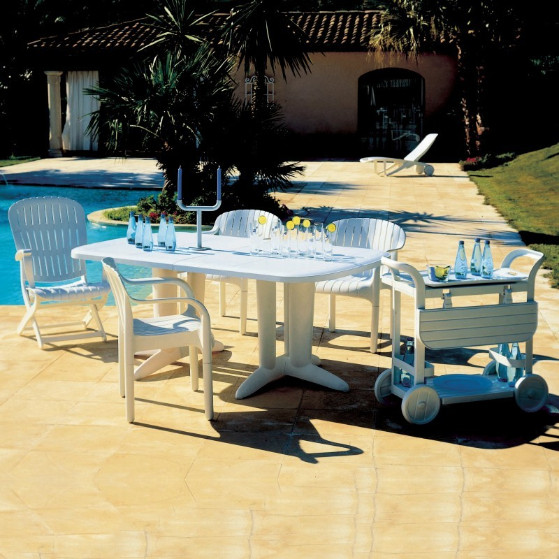 Reclining chair retractable ottomanpatio furniture for Affordable outdoor dining sets