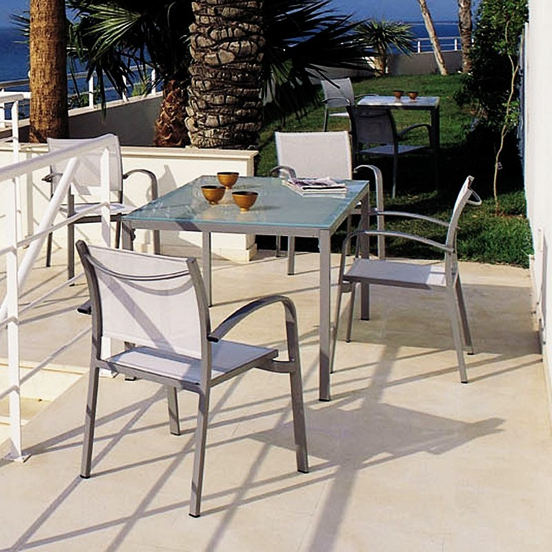 Commercial Outdoor Dining Furniture on Uno Aluminum Sling Outdoor Patio Dining Set 5 Piece Is Currently Not