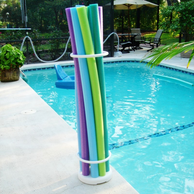 Pool Area Storage, Float Storage: Pool Noodle Storage Organizer