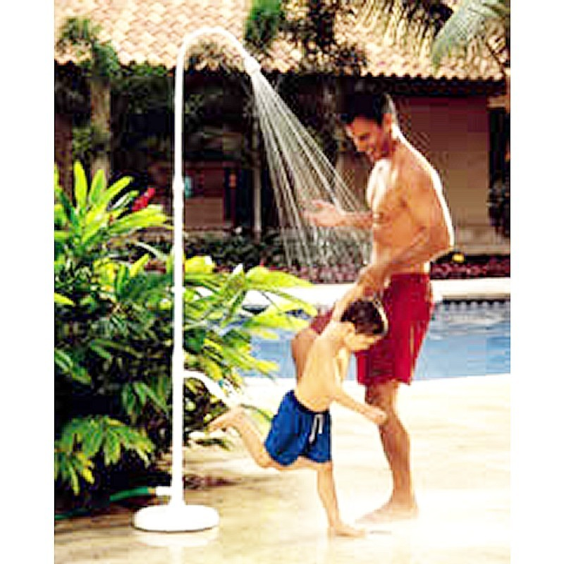 Poolside Shower with Foot Washer : Pool & Spa