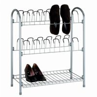 Organize it All 12 Pair Shoe Rack with Shelf 17704