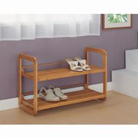 Organize it All 2 Tier Stackable Eco-Friendly Shoe Rack 17072