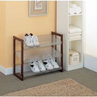Organize it All 3 Tier Shoe Shelf Espresso 17053