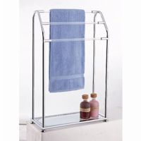 Organize it All Acrylic 3 Bar Towel Rack with Bottom Shelf 62443