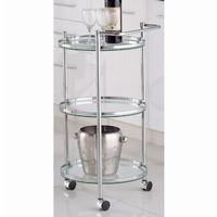 Organize it All Chrome Circular Serving Cart 62943