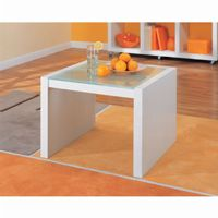 Organize it All Coffee Table with Glass Top White 39411