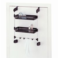 Organize it All Over the Door 2 Basket Unit with Hook 17712