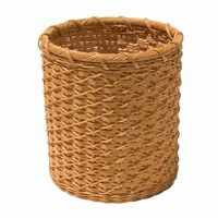 Organize it All Unique Eco-Friendly Round Natural Wicker Wastebasket 24641