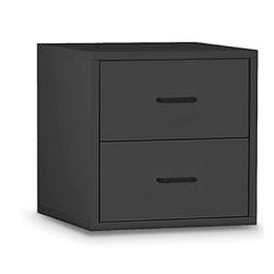 Organize it All 2 Drawer Cube Black 84618