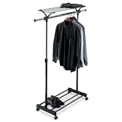 Organize it All Adjustable Garment Rack with Shelf 1703