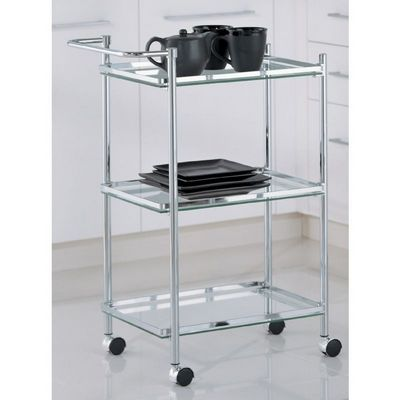 Organize it All Chrome Rectangular Serving Cart 62933