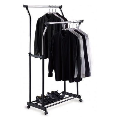 Organize it All Double Adjustable Garment Rack 1719