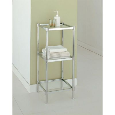 Organize it All Glacier Bathroom 3 Tier Shelf 16953