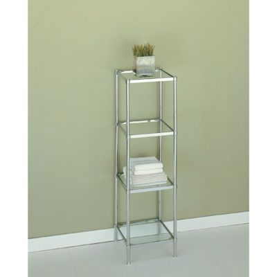 Organize it All Glacier Bathroom 4 Tier Shelf 16954