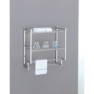 Organize it All Metro Bathroom 2 Tier Wall Mounted Rack with Towel Bars 16988