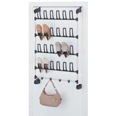 Organize it All Over the Door 12 Pair Shoe Rack with Hook 17717