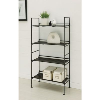 Organize it All Resin 4 Tier Shelf Espresso 97204