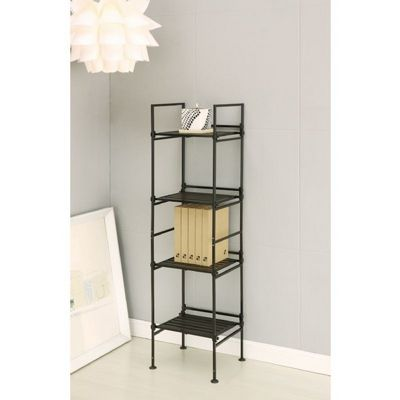 Organize it All Resin 4 Tier Square Shelf Espresso 97214