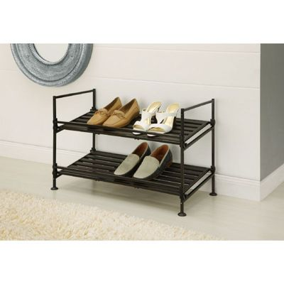 Organize it All Resin Stackable 2 Tier Shoe Rack 97222