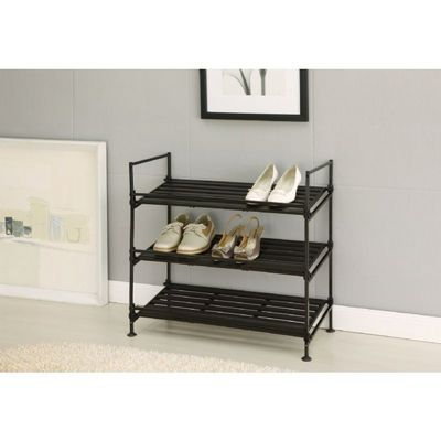 Organize it All Resin Stackable 3 Tier Shoe Rack 97223