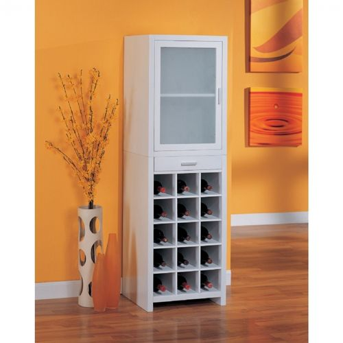 Organize it All 15 Section Wine Cabinet White 39415