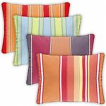 Rectangle Outdoor Pillow 30x18 Stripes