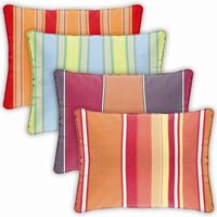 Rectangle Outdoor Pillow 22x14 Stripes CD2214P