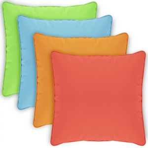 Pillow Cover Square Zippered Welted 15x15 Solids CPC15P