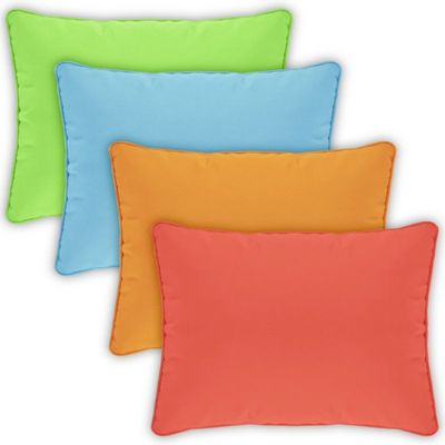 Pillow Cover Rectangle Zippered Welted 22x14 Solids CPC2214P