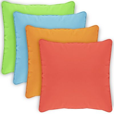 Pillow Cover Square Zippered Welted 18x18 Solids CPC18P