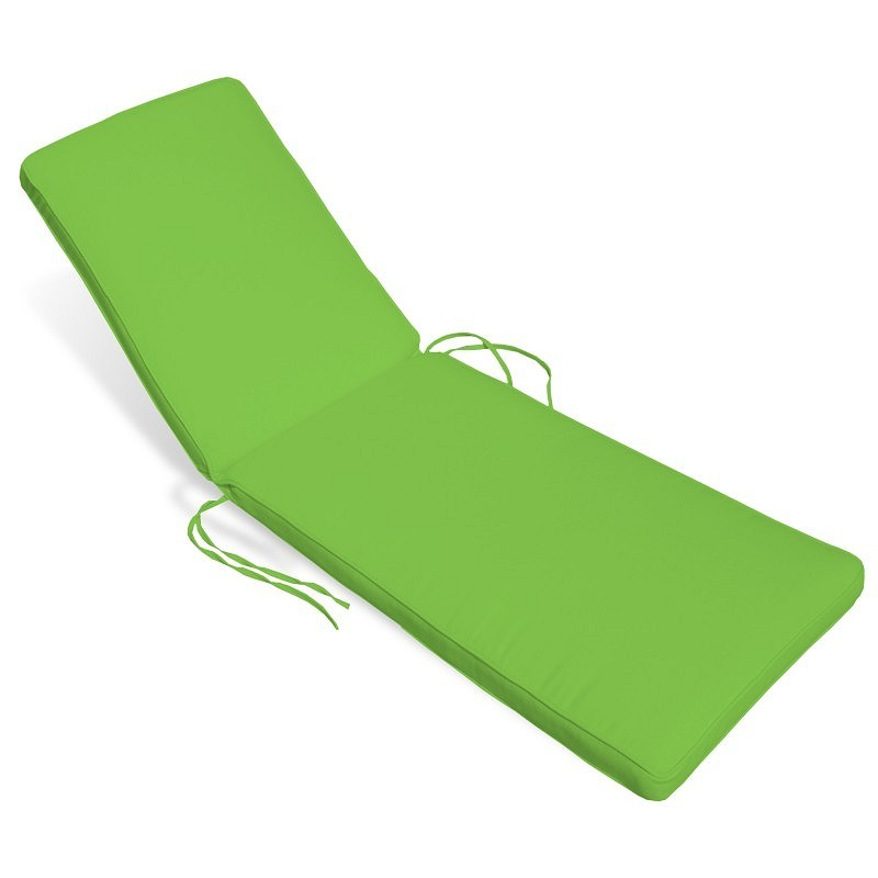 Patio Furniture Cushions: Sunbrella Chaise Cushions: Sunbrella Outdoor Chaise Cushion 22W × 74L × 4H Solid
