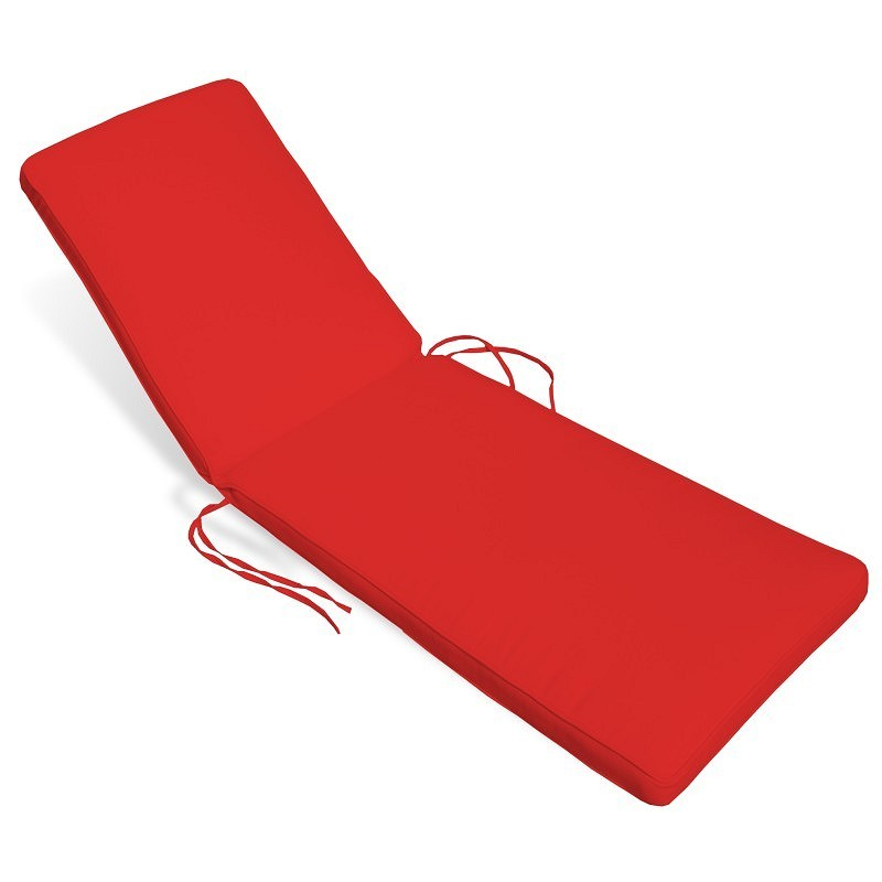 Patio Furniture Cushions: Sunbrella Chaise Cushions: Sunbrella Outdoor Chaise Cushion 24W × 76L × 2H Solid