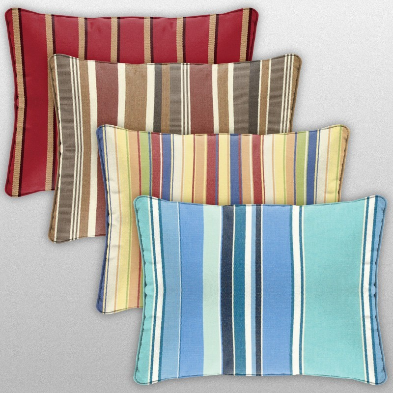 Patio Furniture Cushions: Outdoor Pillows - Rectangle