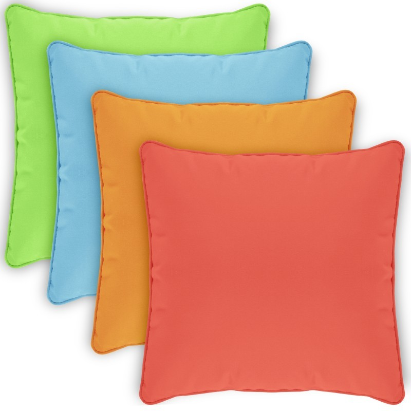 Pillow Cover Square Zippered Welted 15x15 Solids