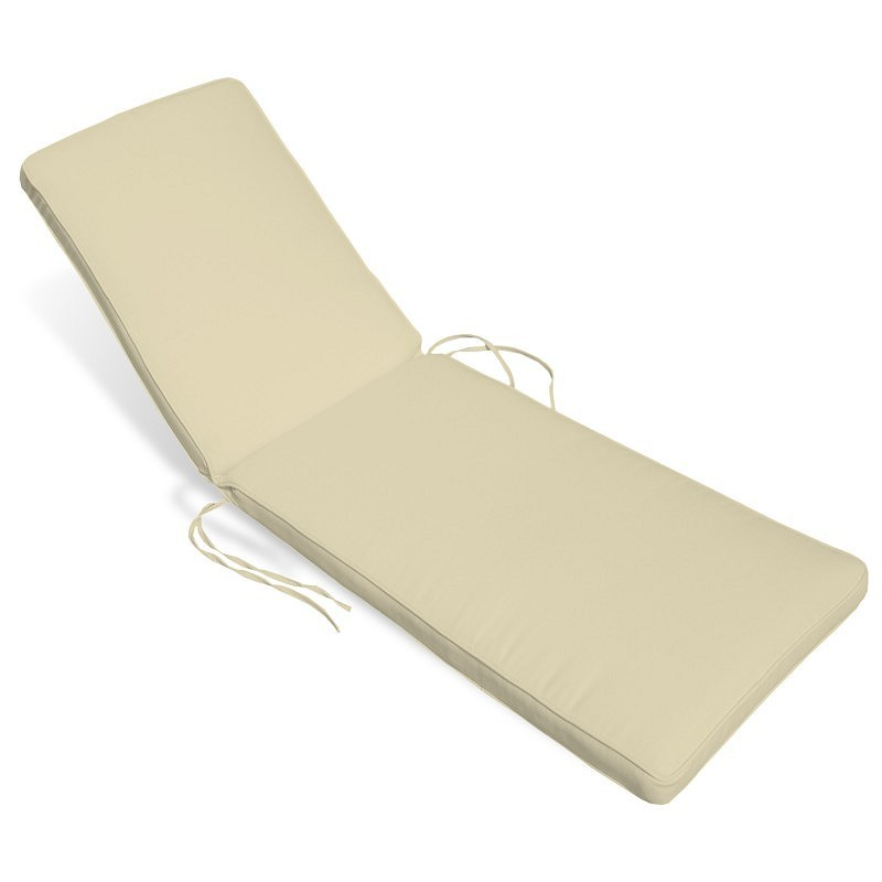 Sunbrella outdoor chaise cushion 24w 76l 4h stripes for Chaise cushions sunbrella