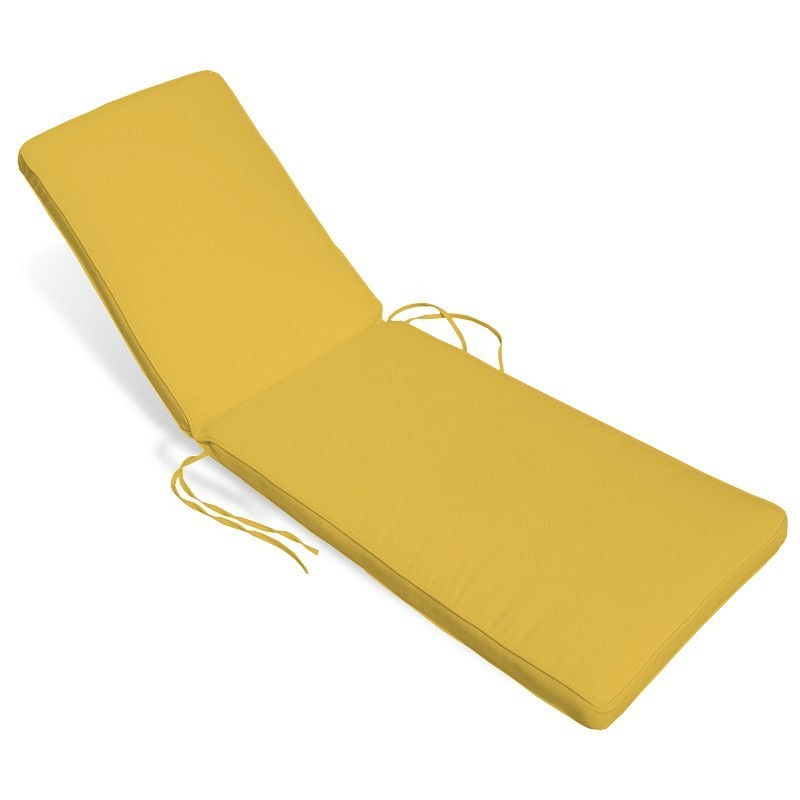 Patio Furniture Cushions: Sunbrella Chaise Cushions: Sunbrella Outdoor Chaise Cushion 24W × 78L × 2H Solid