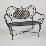 4D Concepts Bird and Flower Bench - Black and Multi Color Metal 4DC-10092